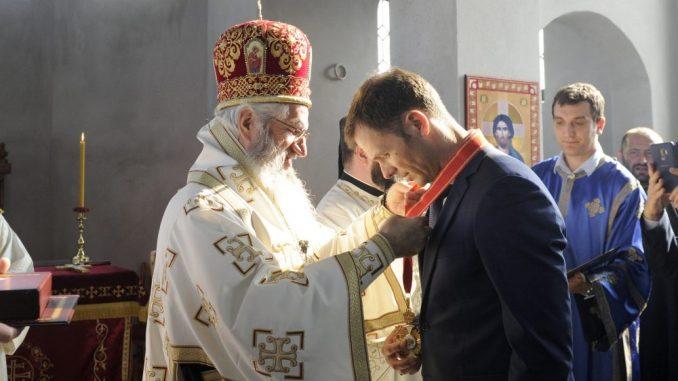 Siniši Malom orden Velikomučenika Kragujevačkih prvog stepena 1