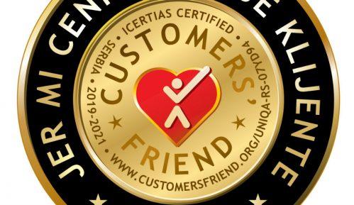 Priznanje za izvrstan odnos sa klijentima 9