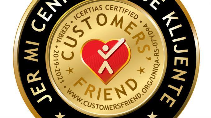 Priznanje za izvrstan odnos sa klijentima 1