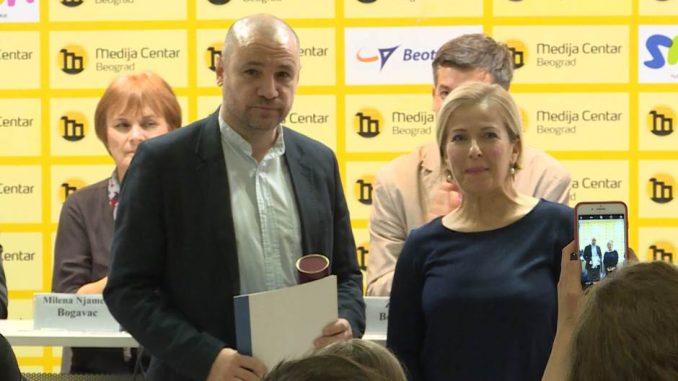 Uručena nagrada Dušan Bogavac televiziji N1 i Vuku Cvijiću 2