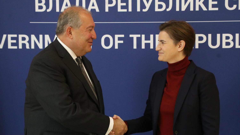 Branabić sa jermenskim predsednikom: Beograd namerava da otvori ambasadu u Jerevanu - Teslavision