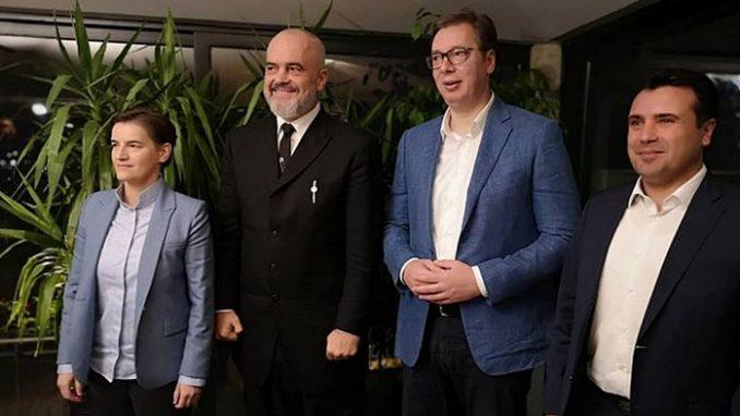 Vučić i Brnabić priredili večeru premijerima Severne Makedonije i Albanije 1