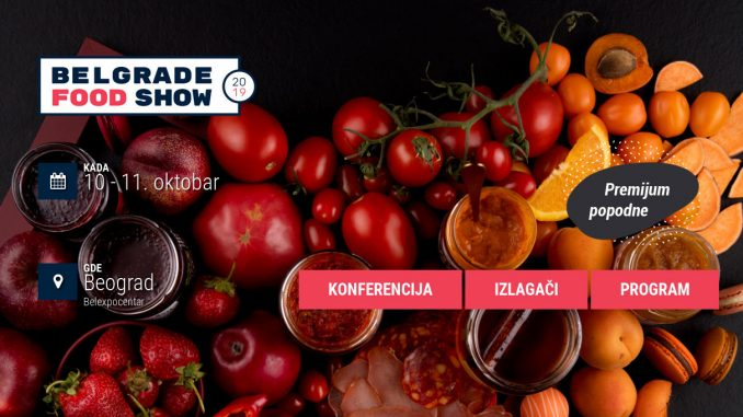 Belgrade Food Show 10. i 11. oktobra u Belexpocentru 2