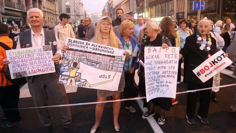 """Protest """"1 od 5 miliona"""" u Beogradu: Podrška Obradoviću i svim uzbunjivačima 2"""