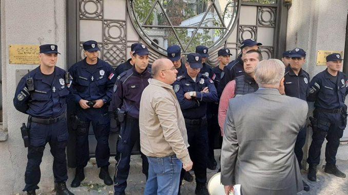 Sukob ispred sinagoge: Frakcije Jevrejske zajednice predvođene Medićem se razišle 1