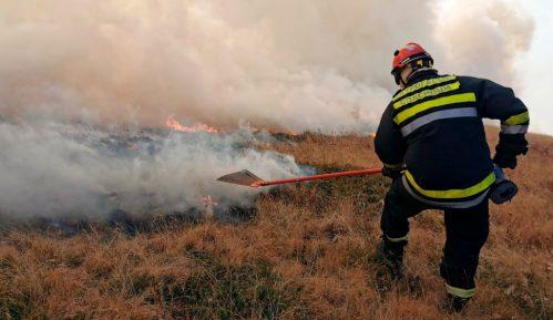 Bukti požar u podnožju Suve planine, stanovništvo nije ugroženo 12