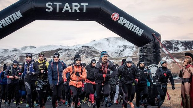 Starting point of the race in Iceland