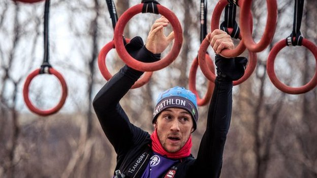 John Albon on the rings obstacle round