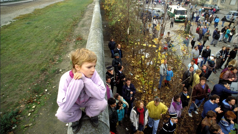 The destruction of the Berlin Wall, Germany, 11 November 1989