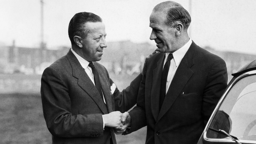 Jimmy Murphy and Matt Busby