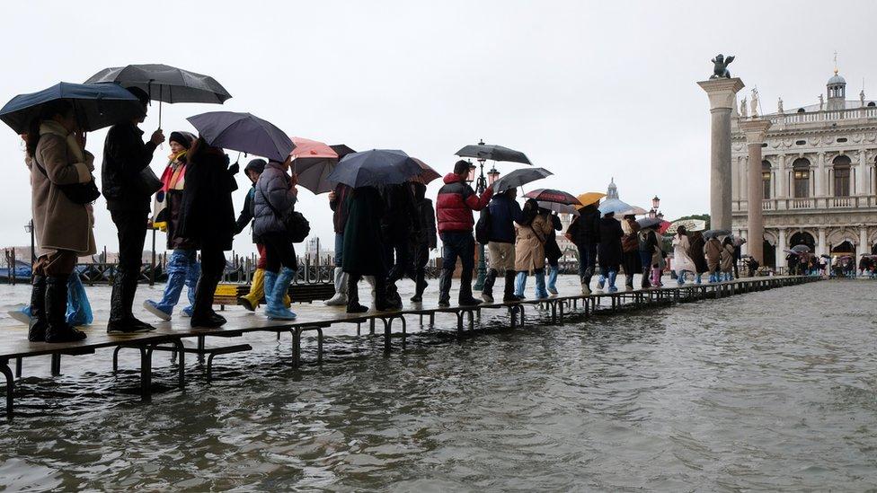 trg svetog marka venecija poplava