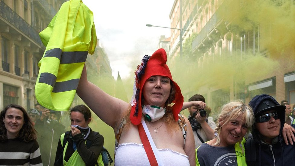 Yellow vest protest in Toulouse, 18 May 19