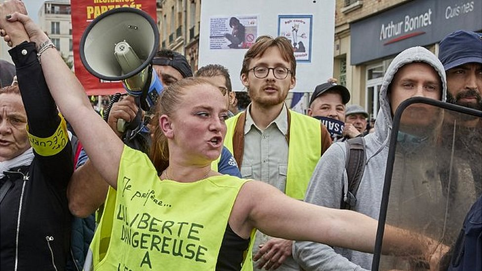 Yellow vest protest in Paris, 18 May 19