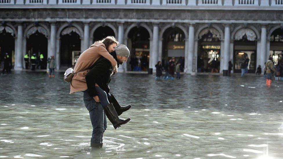 Flood in St Mark's Square, 14 Nov 19