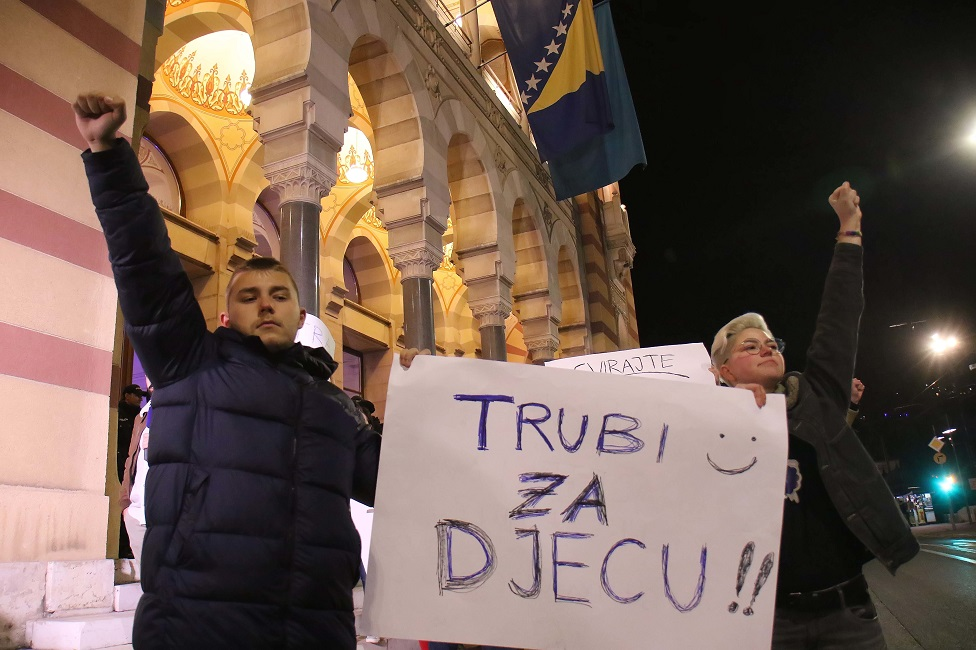 protest isred Vlade BiH