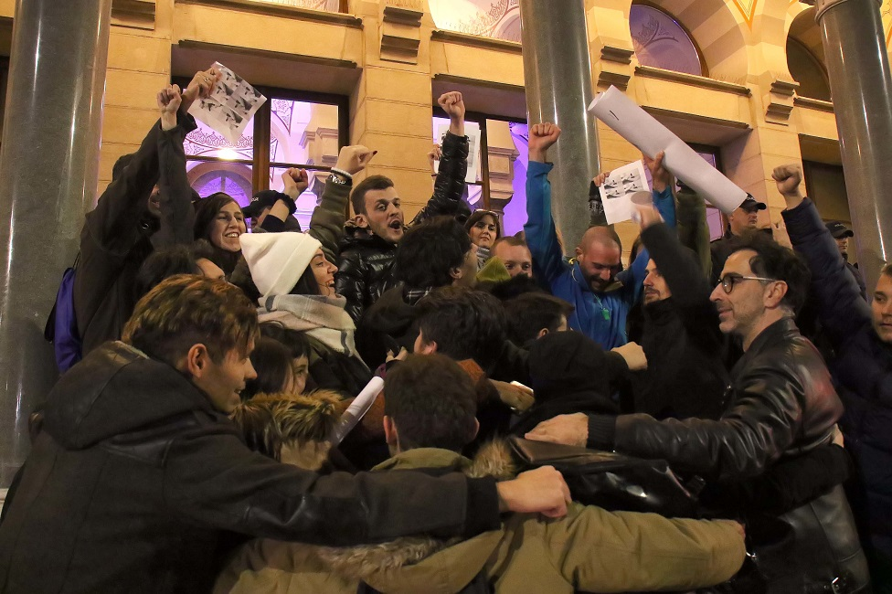 protest isred Vlade BiH