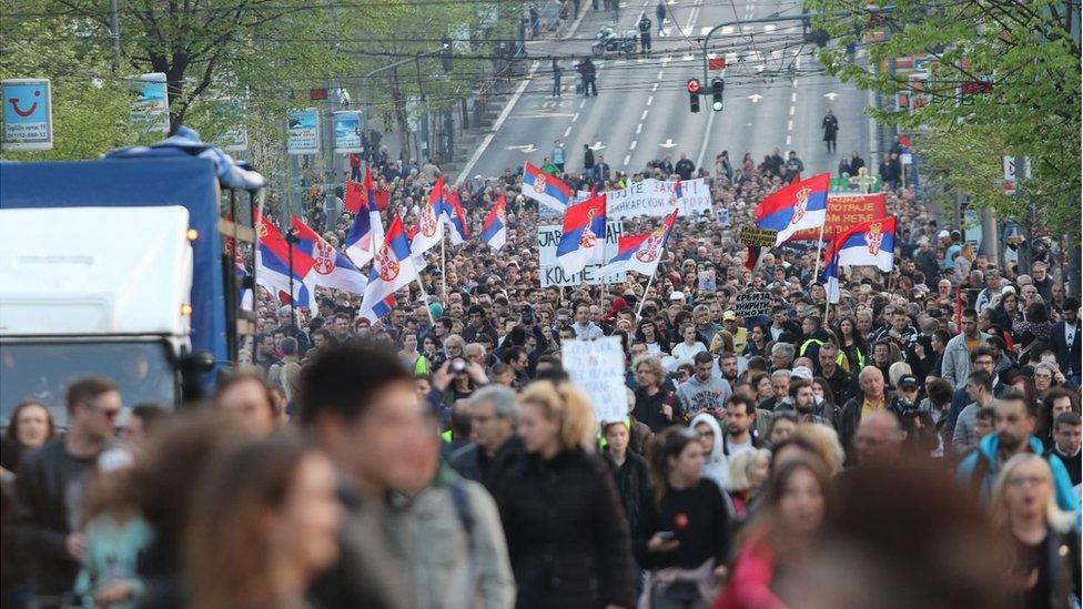 Protesti, Beograd 2019.