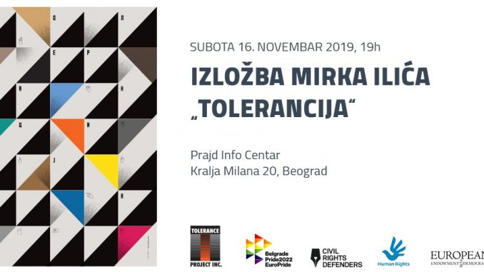"Izložba ""Tolerancija"" 16. novembra u Prajd Info Centru 5"