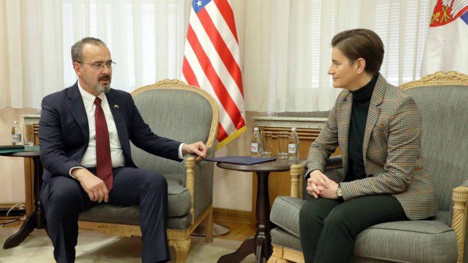 Brnabić i novi ambasador SAD o odnosima dve države 4