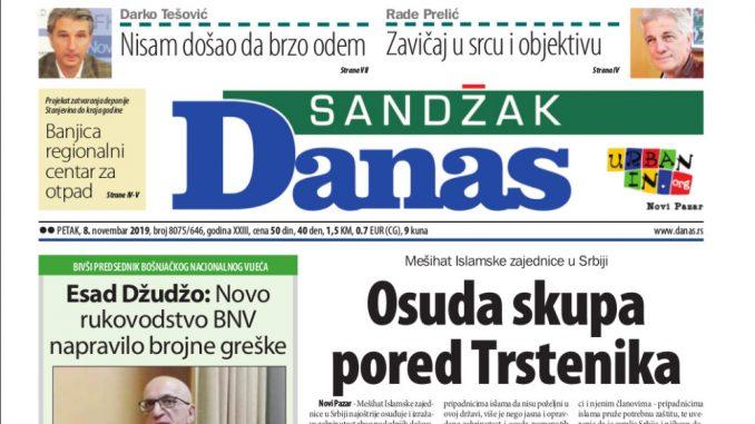 Sandžak Danas -08. novembar 2019. 1