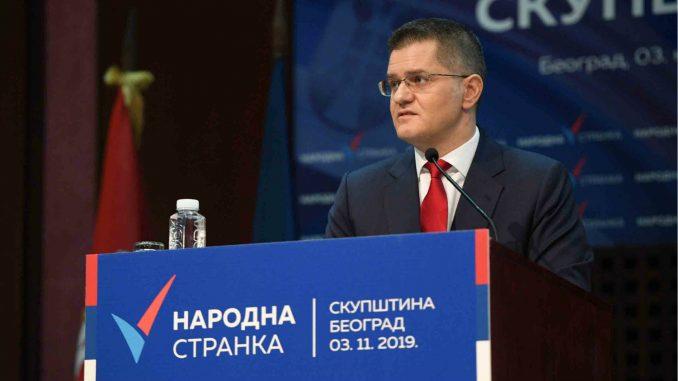 Jeremić: Ne postoji mogućnost da Narodna stranka izađe na izbore 3