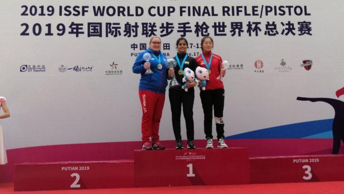 Zorana Arunović osvojila srebro vazdušnim pištoljem na finalu Svetskog kupa 3