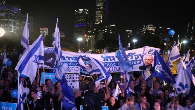 Hiljade ljudi demonstriralo u Tel Avivu u znak podrške Netanjahuu 2