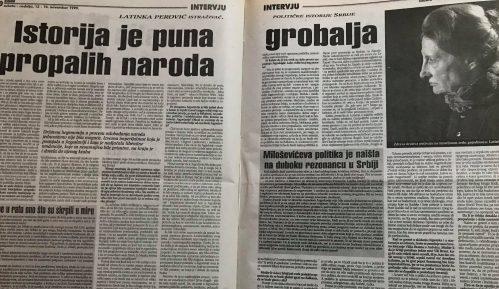 Latinka Perović pre 20 godina: Srpski narod se više ne da lako prevariti 8
