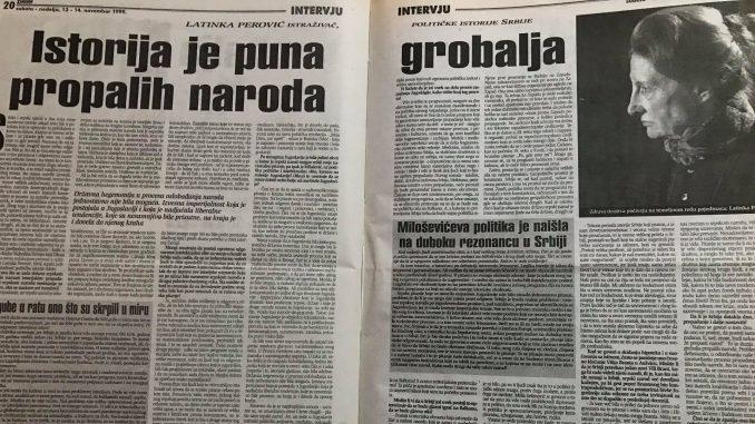Latinka Perović pre 20 godina: Srpski narod se više ne da lako prevariti 3