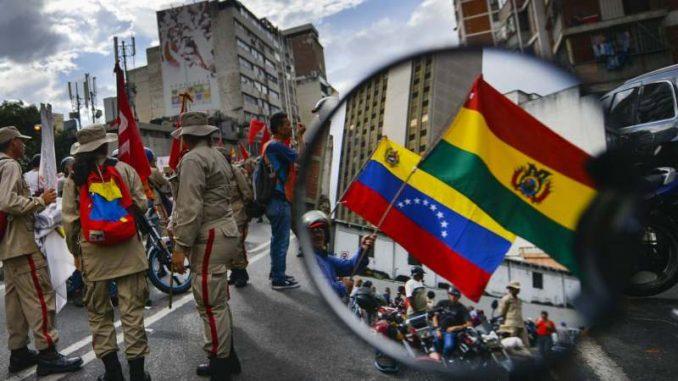 Pristalice Socijalističke partije u Venecueli na ulicama u znak podrške Moralesu 1