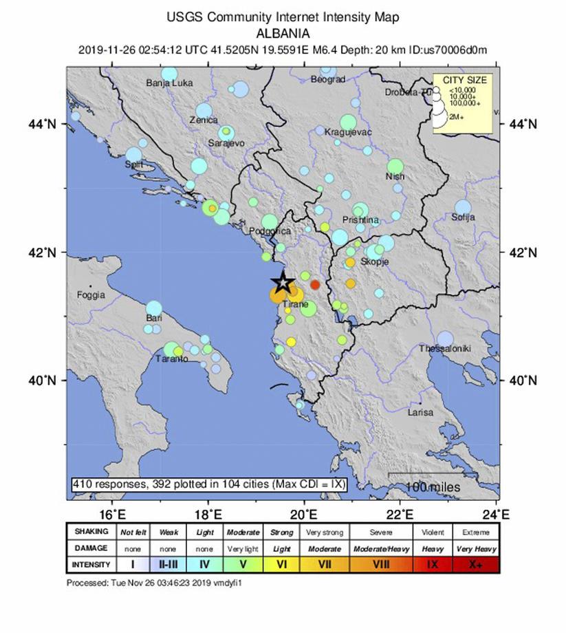 U zemljotresu u Albaniji najmanje 22 mrtvih, tim iz Srbije poslat u pomoć 19