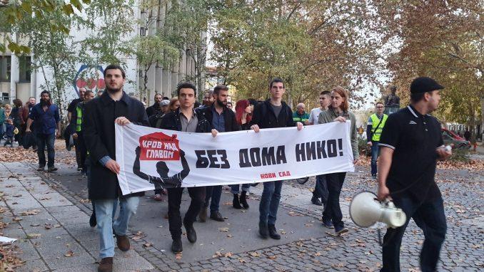 Aktivisti Za krov nad glavom održali protest u Novom Sadu 2