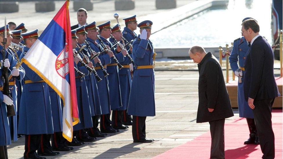 Vučić i Putin, Beograd, 17. januar 2019.