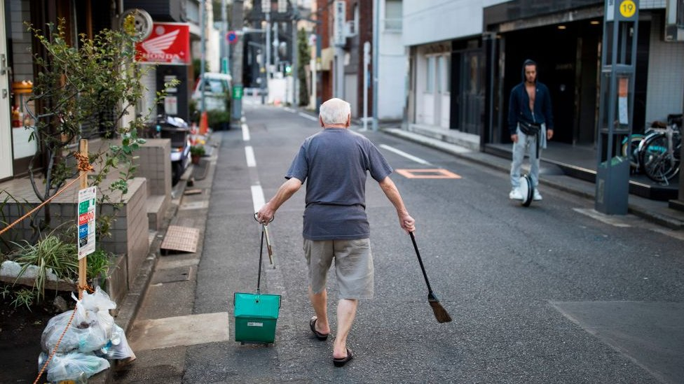 Man cleaning his neighbourhood