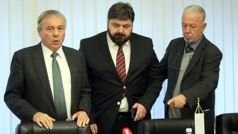 Jovanović na konferenciji za novinare na kojoj je objavio prodaju