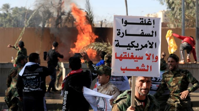 Demonstranti napali američku ambasadu u Iraku - u znak protesta zbog vazdušnih napada 3