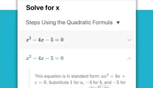 Aplikacija za zadatke iz matematike 10