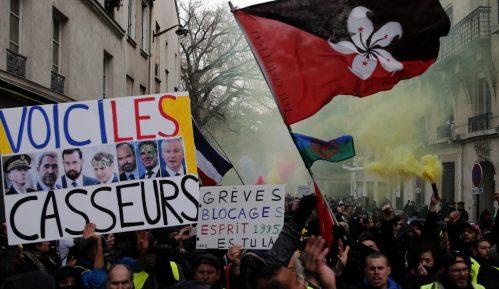 Mond: Slab odziv na protestu Žutih prsluka zbog štrajka i drugih skupova 50