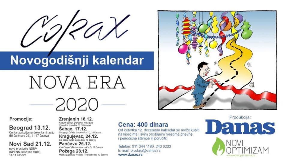 Koraksov kalendar u prodaji od 12. decembra 2