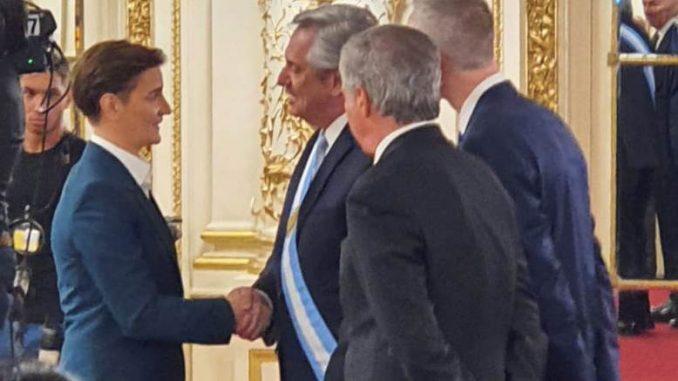 Brnabić prisustvovala inauguraciji predsednika Argentine 1