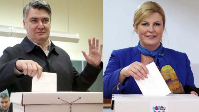 Milanović i Grabar Kitarović u drugom krugu za izbor predsednika Hrvatske 2