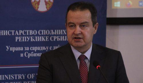 Dačić: Suštinski dijalog Srbije i Kosova se ne vodi zbog taksi 6