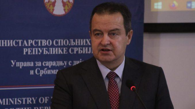 Dačić: Suštinski dijalog Srbije i Kosova se ne vodi zbog taksi 1