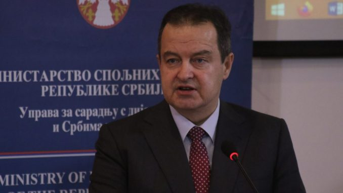 Dačić: Suštinski dijalog Srbije i Kosova se ne vodi zbog taksi 4