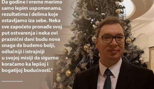 Vučić čestitao Novu godinu građanima na Instagramu 11