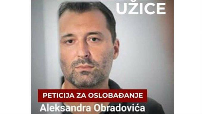 Užice: Potpisi za obustavljanje progona Obradovića 9. decembra 1