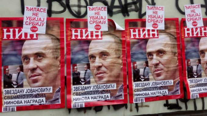 Mirović: SNS ne stoji iza plakata fotomontaže naslovnice NIN-a 2