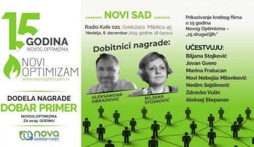 Novi Optimizam obeležava 15 godina rada skupom u Novom Sadu 8. decembra 9