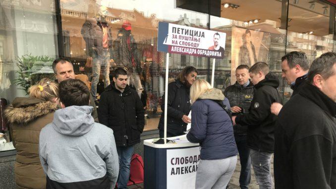 Zrenjanin: Potpisi za oslobađanje Aleksandra Obradovića 2