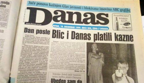 Kako je list Danas kažnjen po prijavi Šešelja i Vučića pre 20 godina? 4
